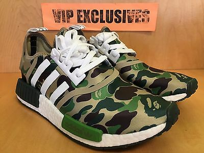 5d541fc0dadf4 ... Adidas NMD R1 Bape Green Camo Army Bathing Ape Nomad Runner BA7326  SHIPPING NOW 2