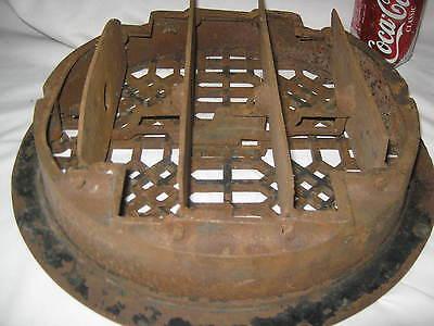Antique Usa Architectural Home Cast Iron Heating Floor Register Vent Grate Lock 7