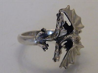 Silver Mythical Dragon Ring