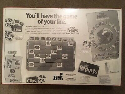 """Vintage New Sealed Board Game """"The News From The BBC""""  Great Games Company 1987 2"""
