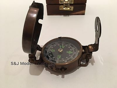 Soldiers Military Thumb Compass Vintage Brass WW2 1940 Navigation World War II 7