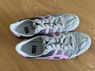 Onitsuka tiger Women Serrano Grey Pink New Size Trainers UK 3.5 USA 5.5 Rrp £80 4