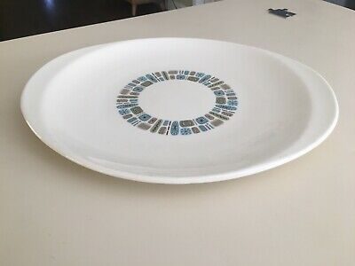 "Canonsburg Pottery Dura Gloss Temporama Atomic MCM 13.5""x 11.5"" Serving Plate 2"