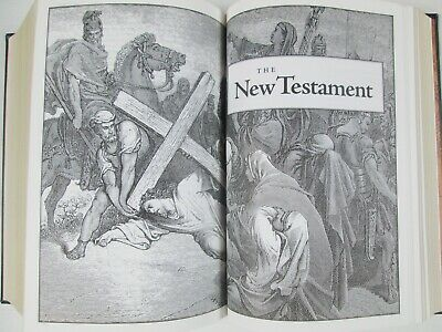 NEW KJV Holy Bible King James Version Illustrated By Gustave Dore Leather Bound 5