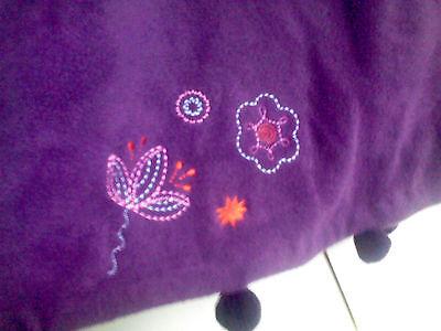 CAPE Enfant polaire violet prune douce fille 8 ans T 126  mixte NEUF 2