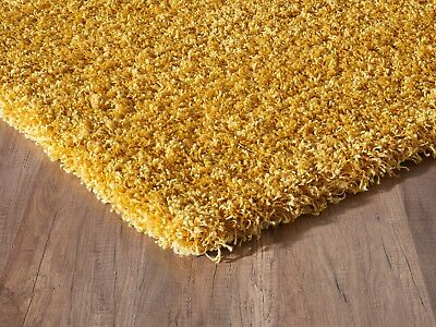 Modern Small - Large Rugs Mustard Yellow Gold and Various Colours Shaggy Rug 3