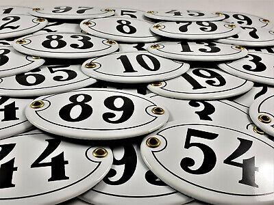 Emaille Hausnummer OVAL Nr. 51 weiß-schwarz Türschild Hausschild Schild Email 6