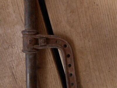 Vintage Antique Hand Pump Rare Cast Tool Farm Salvaged Barn Fresh non working 4