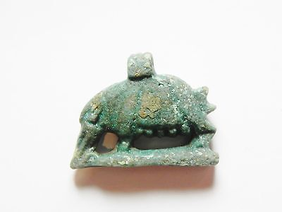 Zurqieh - 50B- Ancient Large Faience Sow Amulet, 1075 - 600 B.c