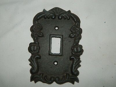 Rustic Cast Iron Ornate French Single Light Switch Outlet Plate Cover 2
