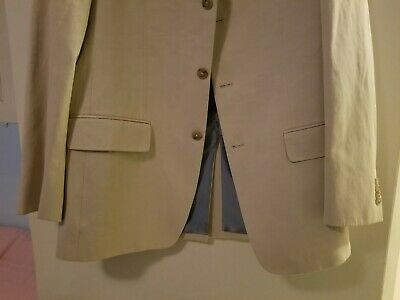 Banana Republic Modern suit Beige Jacket/Pant Set 40R / 34-32 new w defects. 3