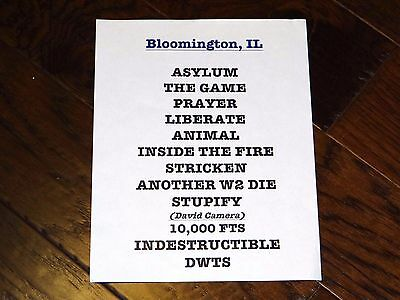 Disturbed Singer David Draiman Signed 12X18 And Setlist!!! 2