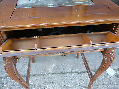 Antique 'Free Westinghouse' Sewing Machine Type E in Ornate Cabinet 5
