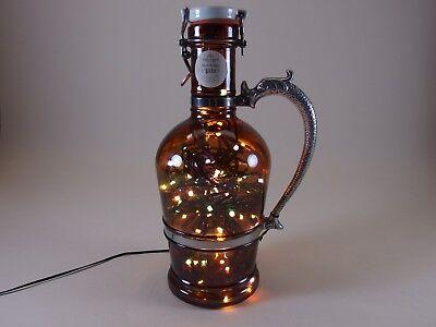 Flaschen Lampe Ratskeller Pils Krug rustikal Tischlampe mit 120 LED´s ww+MC 2