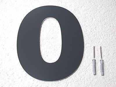 Hausnummer Anthrazit hausnummer anthrazit ral 7016 zahl 25 cm oder 30 cm hoch türschild