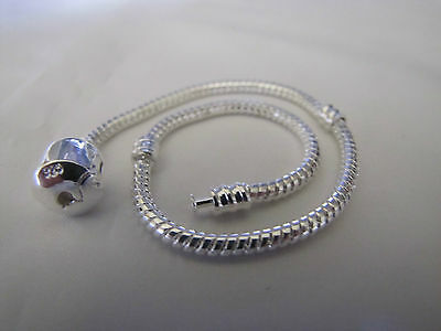 20cm 925 SILVER STAMPED BEAUTIFUL SNAKE CHAINS  EUROPEAN STYLE CHARM BRACELETS 3