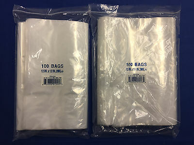 1.5x2 to 24x24 Clear Plastic Seal Top ZipLock Reclosable Poly Jewelry Bags 2Mil 8