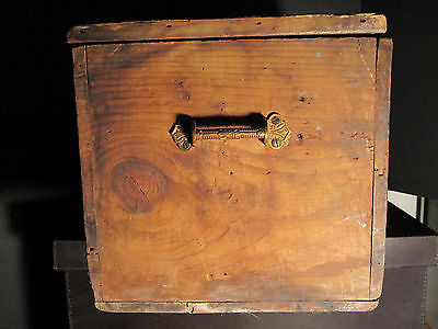Antique Victorian American Folk Art Painted Trunk Bailey Somerville Ma Boston