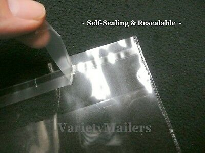"200 Self-Sealing 8""x 10"" 1.5 Mil Clear Cello Resealable Merchandise Bags"