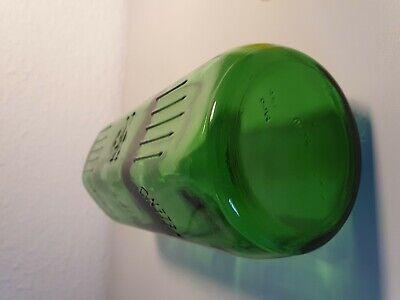 Alte Giftflasche Totenkopf Glasflasche (1 Liter) grün Arzt Apotheke *unbenutzt* 8