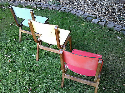 RARE COLLECTORS~ 1x Antique Vintage Wooden Child School Desk Chair (3 available) 5