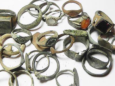 Zurqieh - Ancient Holy Land , Group Of 38 Ancient Bronze Rings 6