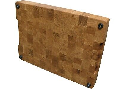 Oak Cutting Board End Grain, with Feet, Butcher Block, Chopping Board, Handmade 3