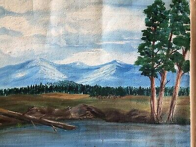 Marcel Fournier Painting Original Antique RARE Appraised $4000 + 9