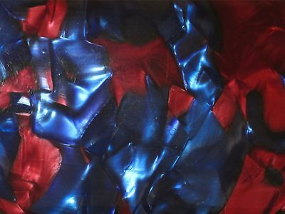 Antikes Horn Brillenetui Blau Rot Vintage Etui Box Brille Sonnenbrille Alt Antik