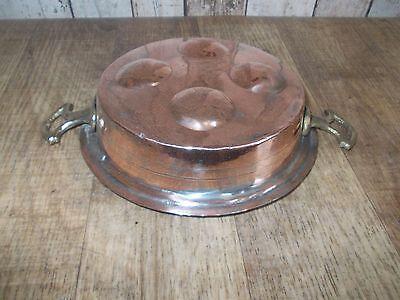 schöne  alte Kupfer Pfanne,Kupferpfanne,Eierpfanne,Schneckenpfanne,Pfanne 3