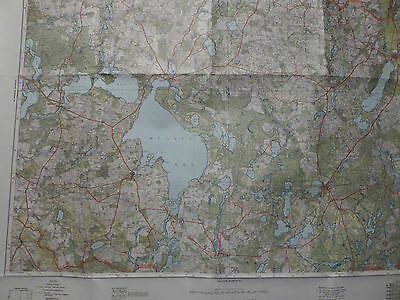 Landkarte Großblatt 36 Neustrelitz - Neubandenburg - Müritzsee, von 1943, farbig