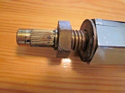 "1 Antique Retro Chrome Hexagon Wall Sink Leg Support Towel Rod 26-3/4"" to 28-1/8"