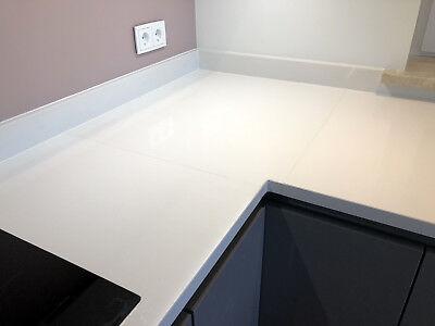 ... Weiße Küchenarbeitsplatte HOCHGLANZ Küchenplatte Arbeitsplatte  Steinplatte Quarz 9