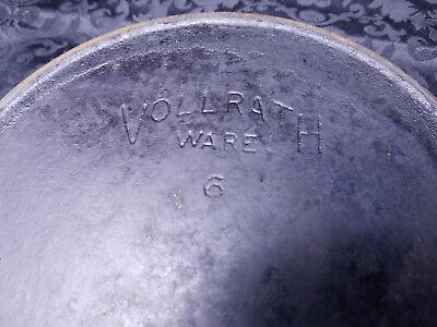 Vintage antique cast iron skillet VOLLRATH WARE #6 No. 6 pan heat ring