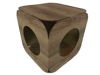 Cardboard Cat House \ Bed Toy Scratcher Wood Effect Cube 7