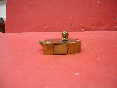 Vintage Antique Original Concealed Release Trigger Brass Latch Hardware 9