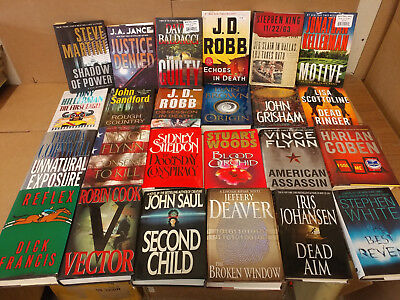 Lot of 10 Mystery Suspense Thriller Crime Murder Detective Hardcover HB MIX Book 8