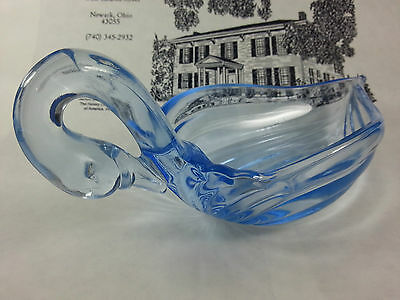 Heisey Willow Blue master swan nut dish by Mosser