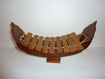 Vintage Chinese boat Xylophone Wooden 3