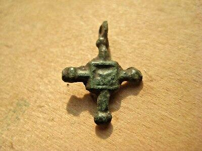 ANCIENT BYZANTINE Scandinavian RELIQUARY CROSS 10-12 century AD 4