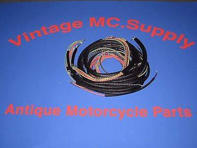 HARLEY DAVIDSON 1965-1969 FLH Complete Wiring Harness Kit on