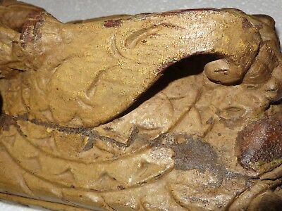 1900s Architectural Wood Corbel redefine wall fixing Carved bird Elephant trunk 4