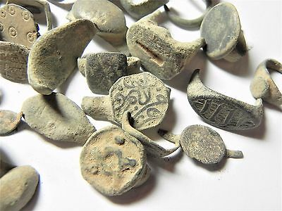 Zurqieh - Ancient Holy Land , Group Of 35 Ancient Bronze Rings- All Broken 3