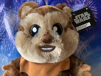 "2020 Disney Parks Star Wars Wicket Ewok Big Feet 10"" Plush NWT 2"