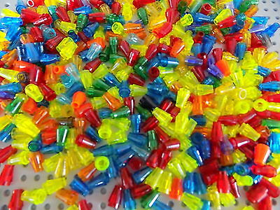 Lego Translucent Cone 1x1 lot of 40 Pieces picked at random from huge lot