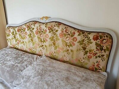 Antique French Corbielle Upholstered Double Bed 4