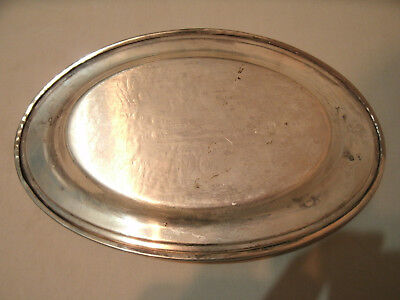Vintage Silver Plate on Copper Gravy Sauce Dish with Tray