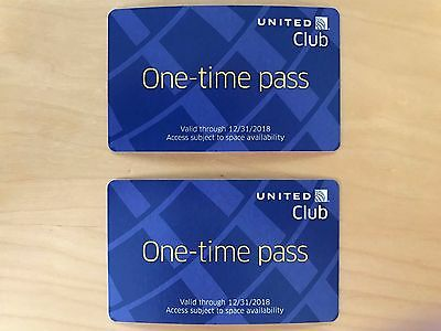 2 Passes for United Club One Time Pass EXP 3/3/2020 NOT CHASE E-pass available 2
