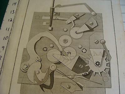 """Original engraving 1760's 10 1/2 x 16"""" PENDULE D'EQUATION DE LE BON again 2"""