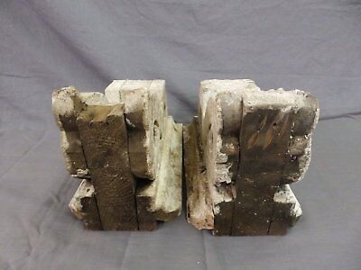 Antique Pair Corbels Wood Small Victorian Architectural Shabby Vtg Chic 513-17P 5